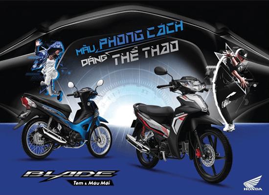 Honda Việt Nam giới thiệu phiên bản mới Blade 110cc – Màu phong cách, dáng thể thao