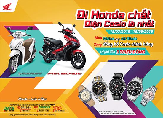 Rinh quà hấp dẫn cùng Honda VISION 110cc & Air Blade 125cc